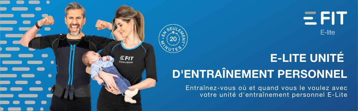 Nouveau: E-Lite unité d'entrainement personnel E-Fit EMS